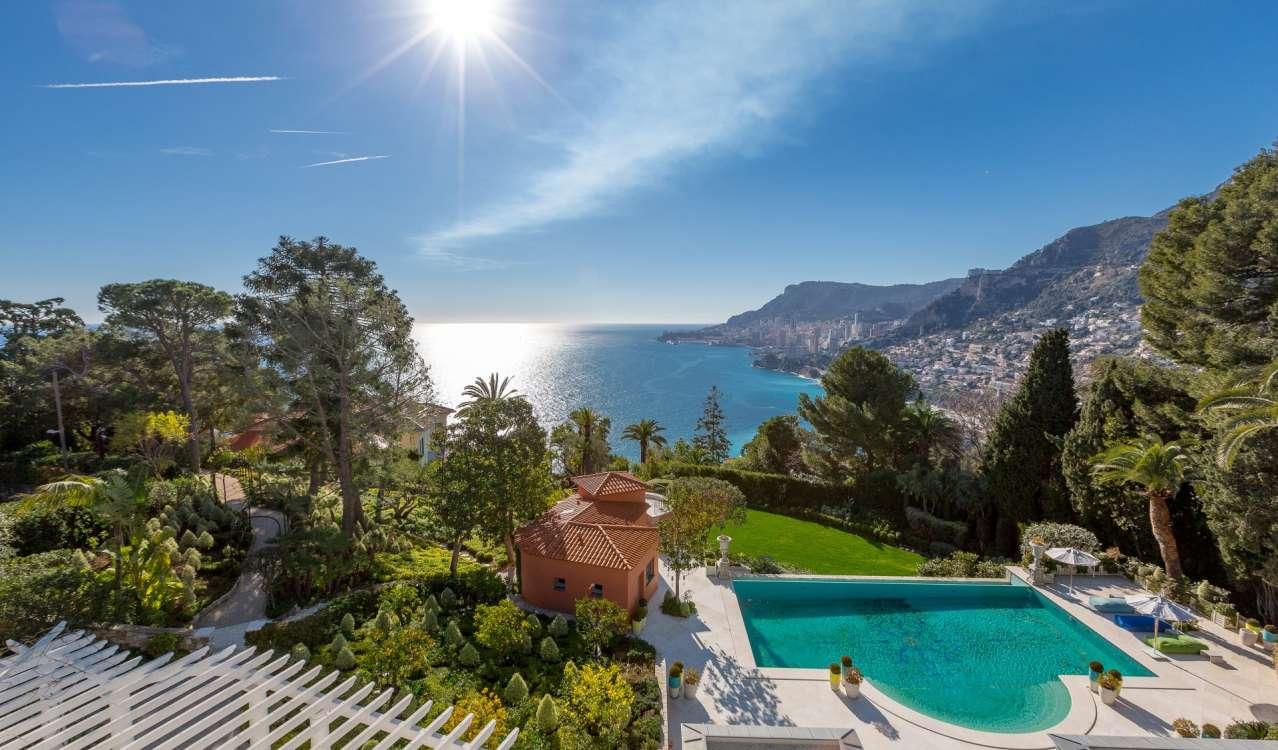 Annonce vente villa roquebrune cap martin 06190 ref v0893mc - Piscine azureva roquebrune cap martin ...